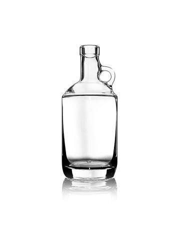 750ml Flint (Clear) Moonshine Round Spirits Glass Bottle - 21.5mm Neck Diameter