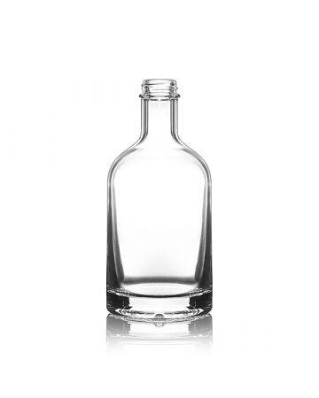 375ml Flint (Clear) Nordic Spirits Round Glass Bottle - 28-400 Neck