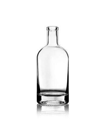 750ml Flint (Clear) Nordic Spirits Bar Top Round Glass Bottle