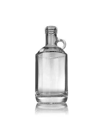 375ml (12.7oz) Flint (Clear) Moonshine Spirits Glass Bottle Round - 18.5mm Neck