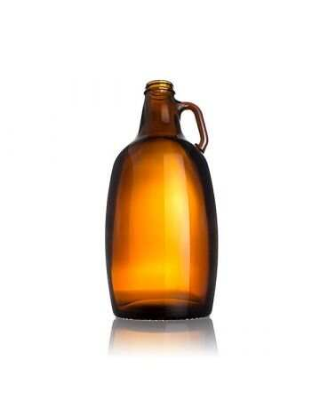 64oz Amber Glass Sierra Growler Bottle - 38-405 Neck