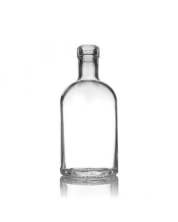 375ml (12.7oz) Flint (Clear) Glass Oregon Spirits Bar Top Round - 18.5mm Neck