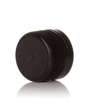 28-350 Black Rib Side PP Tamper Evident Closure - F217 Liner