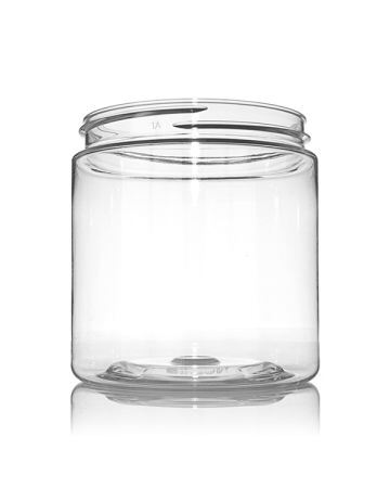 8oz (240ml) Clear PET Wide Mouth Round Jar - 70-400 Neck