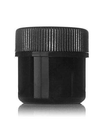 1oz (30ml) Black PET Wide Mouth Straight-Sided  Jar - 38-400 Neck
