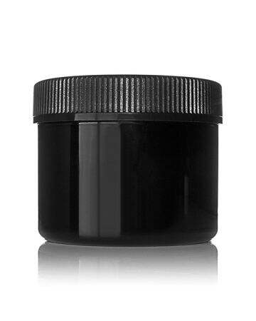 6oz (180ml) Black PET Wide Mouth Cannabis Jar - 70-400 Neck