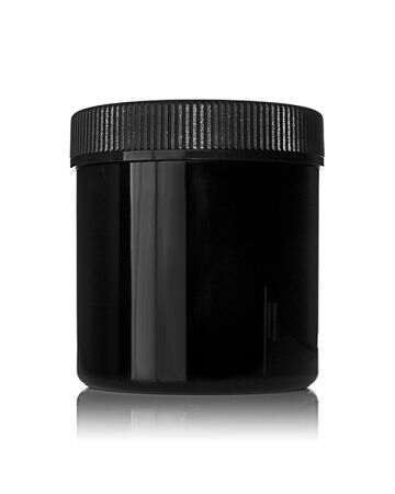 8oz (240ml) Black PET Wide Mouth Cannabis Jar - 70-400 Neck
