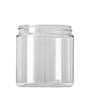 8oz (240ml) Clear PET 35% PCR Straight Sided Plastic Jar - 70-400 Neck (Recycled Plastic)