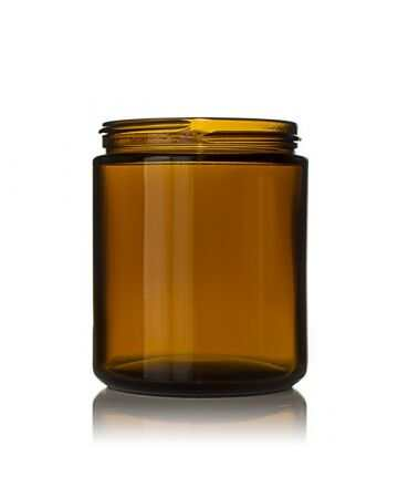 8oz (240ml) Amber Glass Straight Sided Jar - 70-405 Neck (24 Pack)