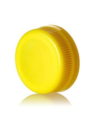 38-385 Yellow DBJ Rib Side Matte Top Drop Band Plug Seal Temper Evident Cap