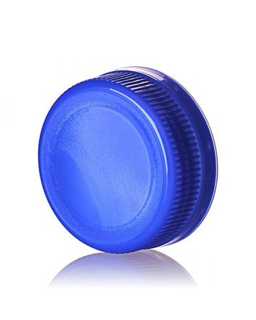 38-385 Blue DBJ Rib Side Matte Top Drop Band Plug Seal Temper Evident Cap