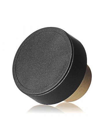 22.5mm Black Matte Plastic Top Beige Synthetic Shank Cork
