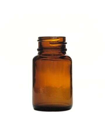 30cc Amber Wide Mouth Round Glass Bottle
