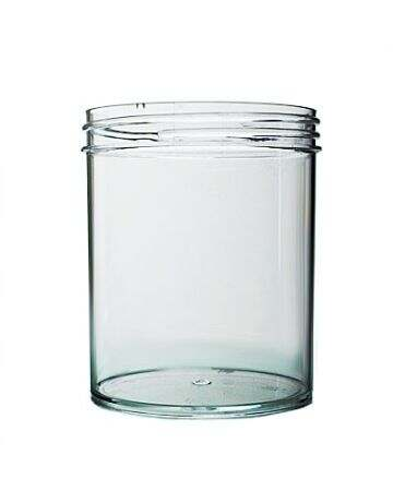 16oz Clear Straight-Sided Plastic Jar