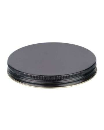 100-400 Black Metal Screw Cap With Plastisol Liner