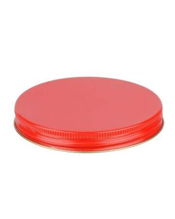 100-400 Red Metal Screw Cap With Customizable Liner Options