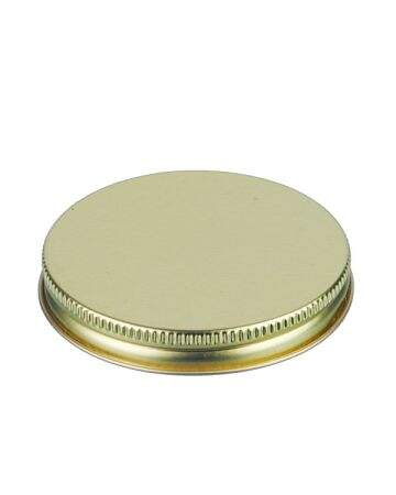 70-400 Gold Metal Screw Cap With Customizable Liner Options