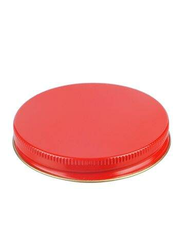 83-400 Red Metal Screw Cap With Customizable Liner Options