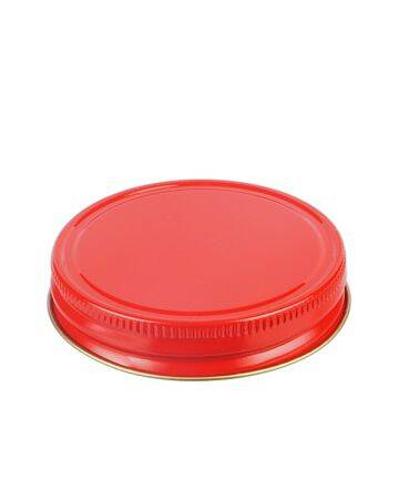 70G Red Metal Screw Cap With Customizable Liner Options