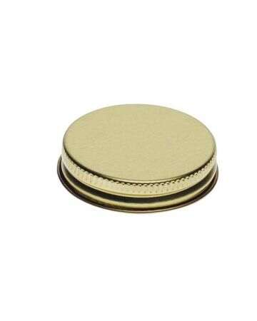 48-400 Gold Metal Screw Cap With Customizable Liner Options