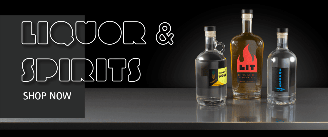 liquor and spirits banner